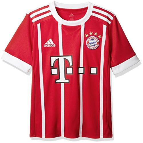 adidas Kinder FC Bayern Heim Trikot, Fcb True RedWhite, 152