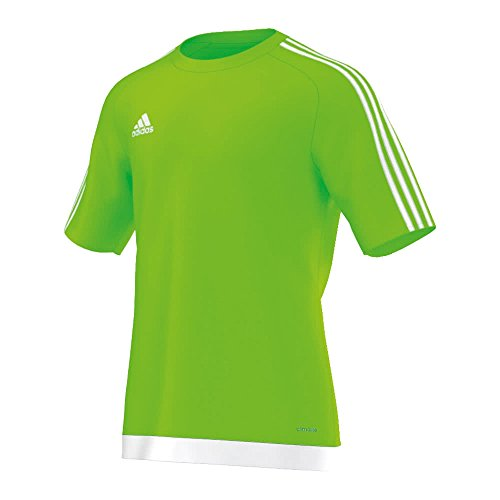 buy popular e2d43 a0a74 Size 164 EU – adidas Estro 15 Kids S S Teamwear Shirt – Solar Green White