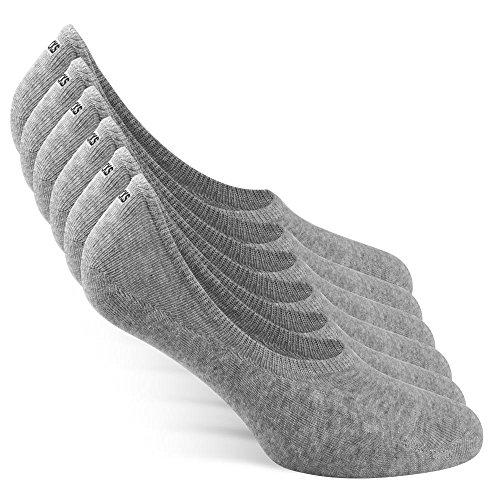 Snocks Herren Sneakersocken 43 46 Grau Graue Unsichtbare
