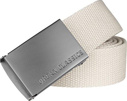 46ec15d3812bca Urban Classics TB305 Unisex Gürtel Canvas Belt für Herren und Damen,  stufenlos verstellbarer Stoffgürtel, Elfenbein Sand 208, Gr. One Size