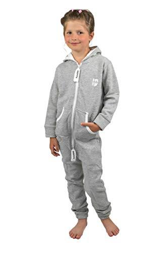e0e316ee0924e2 Gennadi Hoppe Kinder Jumpsuit Overall Jogger Trainingsanzug Mädchen Anzug  Jungen Onesie,hell grau,9-10 Jahre