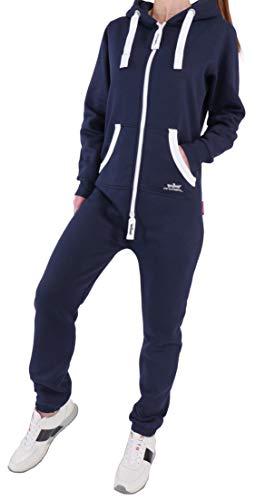 1139e7305d08e2 EN5 Finchgirl Damen Jumpsuit Jogging Anzug Trainingsanzug Overall Navy M