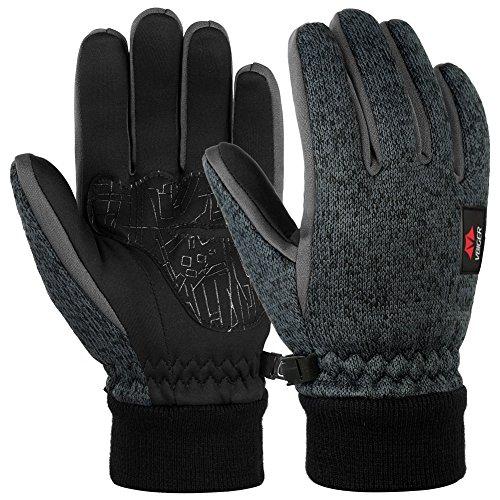 61cacea751770e Vbiger Touchscreen Handschuhe Fleece Handschuhe Winterhandschuhe Warme  Handschuhe Sporthandschuhe, Dunkelgrau, XL