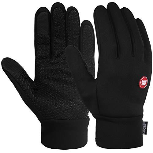 d4490fd57e58d0 Vbiger Touchscreen Handschuhe Trainingshandschuhe Sport Handschuhe  Rutschfest Handschuhe,Schwarz-1,M