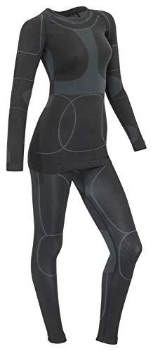 ee2cb7d94bebd4 icefeld®: Sport Ski- Thermounterwäsche-Set für Damen Seamless ...